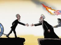 Zionis Amerika Protes Kartun The Economist tentang Iran