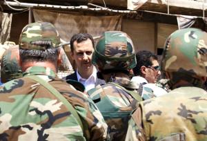 Presiden Assad di tengah-tengah tentara nasional
