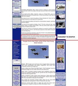 Salah satu sensor berita dari InfoPalestina