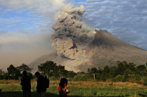 Mount Sinabung: Pyroclastic flow