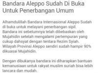 Bandara Allepo Dikontrol SAA, Bukan Teroris (Tanggapan Untuk SunnahCare)