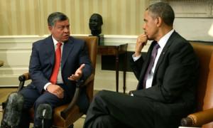 Barack Obama with King Abdullah of Jordan