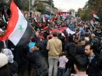 Aksi-Aksi Demo Mendukung Pemerintah Melanda Suriah