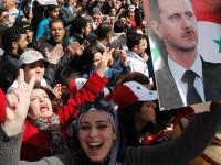 Rakyat Suriah Demo Akbar Dukung Pemerintah