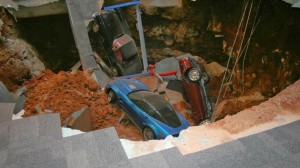 sinkhole swallow chevy cars