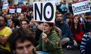 An anti-austerity protest in Spain
