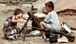 ALBANIA - TROPOJE/GUNS/CHILDREN