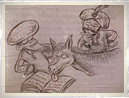 keledai membaca