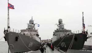 """Ракетный корабль """"Дагестан"""" вступил в строй Каспийской флотилии"""