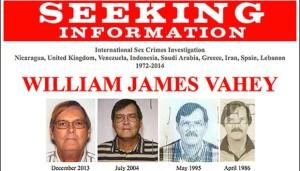 Poster pencarian buronan FBI William James Vahey. (foto:FBI.gov)