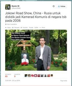 Jokowi Komunis