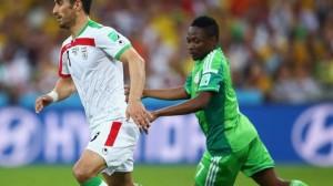 Pemain Iran, Ehsan Haji Safi dan Pemain Nigeria, Ahmed Musa