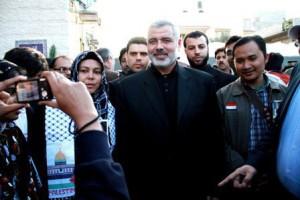 bersama PM Palestina, Ismail Haniyeh di Gaza