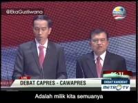 Kreatif: Prabowo-Hatta dan Jokowi-JK Nyanyi Bareng