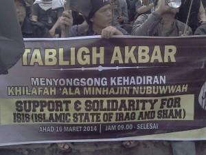 Deklarasi ISIS di Bundaran HI (16/3), foto : Liputan Islam
