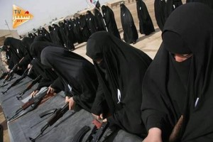 Foto wanita Irak berlatih, Al-Alam