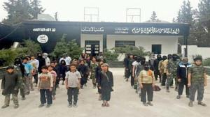 Pelatihan anak-anak di Suriah