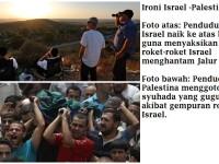 Ironi, Wajah Israel dan Palestina