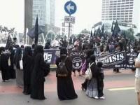 Kelompok pro ISIS di Bundaran HI