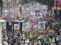 Demo Dukung Palestina di London