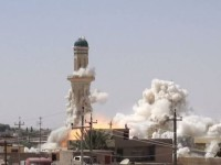 Destruction of a Shia mosque at hands of ISIL in the Iraqi city of Mosul., Oress TV