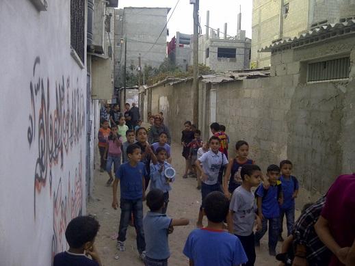 Anak-anak Gaza riang bermain-main (foto: Ella)