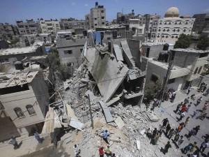 Kerusakan di Gaza akibat serangan Israel