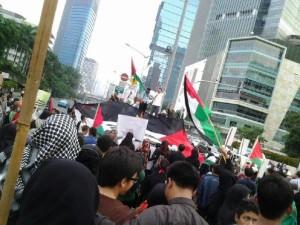 Orasi di Demo Al-Quds, foto: LI