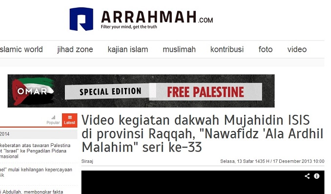 Arrahmah menyebut ISIS sebagai Mujahidin