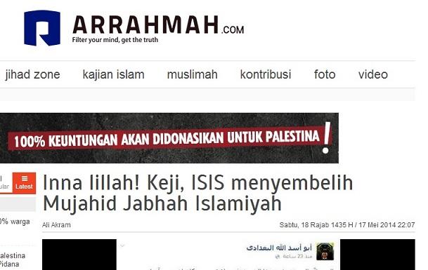 Kini Arrahmah sebut ISIS menyembelih Mujahidin