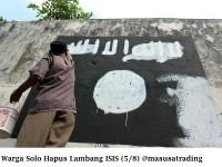 Seperti ini, Nasib Lambang-lambang ISIS di Solo