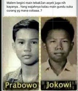 Prabowo Jokowi waktu kecil