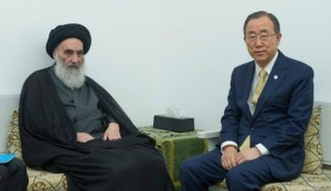 UN's Ban seeks advice on Iraq crisis from Ayatollah Sistani