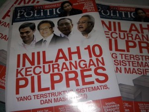 Tabloid The Politic, foto: Fajruddin