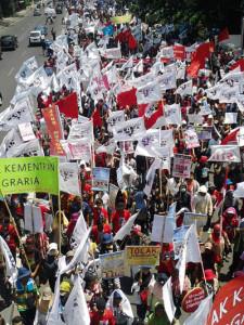 Aksi Demo Hari Tani 2014