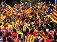 2 Juta Warga Katalan Spanyol Gelar Pawai Pro-Kemerdekaan