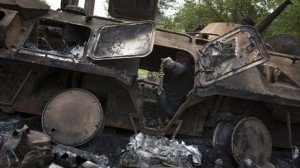 destroyed ukraine apc