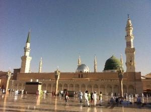 Kubah Hijau yang menaungi makam nabi Muhammad