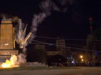 Patung Lenin di Ukraina Dirobohkan