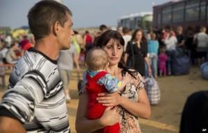 Kondisi rakyat Ukraina yang kini harus mengungsi akibat konflik.