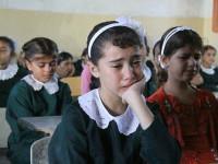 Isak Tangis Warnai Pembukaan Tahun Ajaran Baru di Gaza