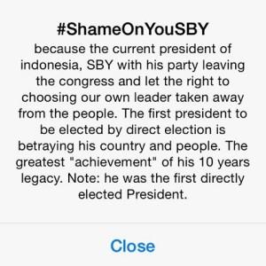 Penjelasan dari Twitter apa itu #ShameonYouSBY