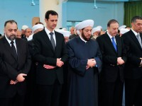Bashar Al-Assad, Shalat Ied di Masjid Nu'man bin Bashir Damaskus