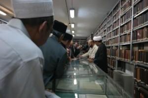 Di perpustakaan Ayatullah Najafi