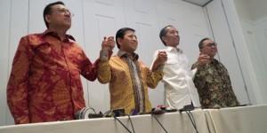 Ketua MPR, Ketua DPR, Ketua DPD, dan Jokowi (foto: Kompas)