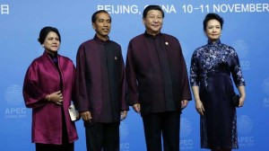 Jokowi dengan presiden Tiongkok