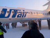 74 Penumpang Dorong Pesawat di Bawah Suhu Ekstrim di Siberia