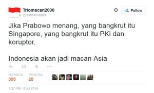 saat Triomacan mendukung Prabowo, klik untuk memperbesar