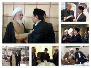 Prof Umar bersama ulama Iran