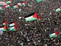 Puluhan Ribu Massa Palestina Berunjuk Rasa di Baitul Maqdis